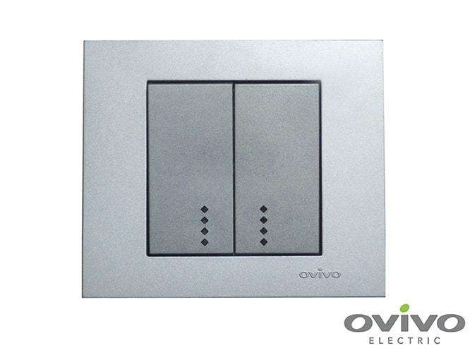 Розетки та вимикачі Ovivo