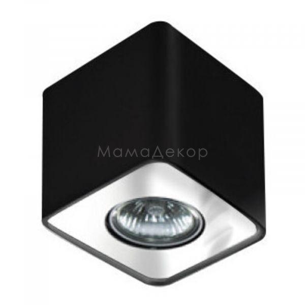 Точковий світильник Azzardo AZ0736 Nino 1, колір плафону — чорний,хром, колір основи — чорний