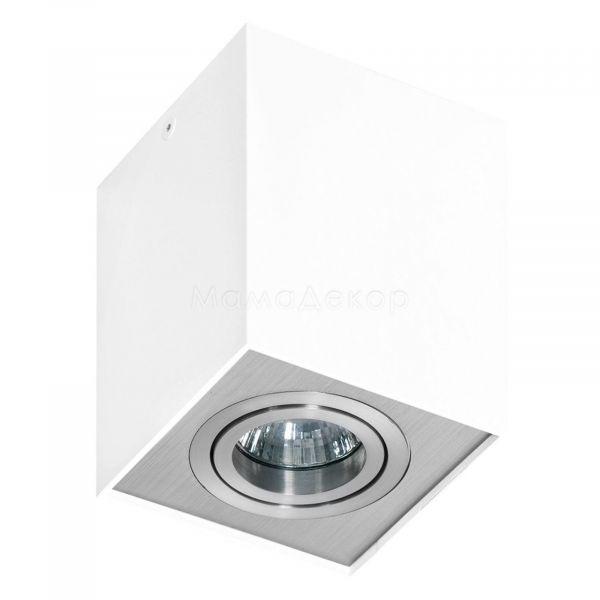 Точковий світильник Azzardo AZ0872 Eloy 1, колір плафону — білий, алюміній, колір основи — білий