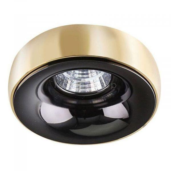 Точковий світильник Azzardo AZ1480   AZ1486 Adamo Ring, колір плафону — золото, колір основи — чорний хром