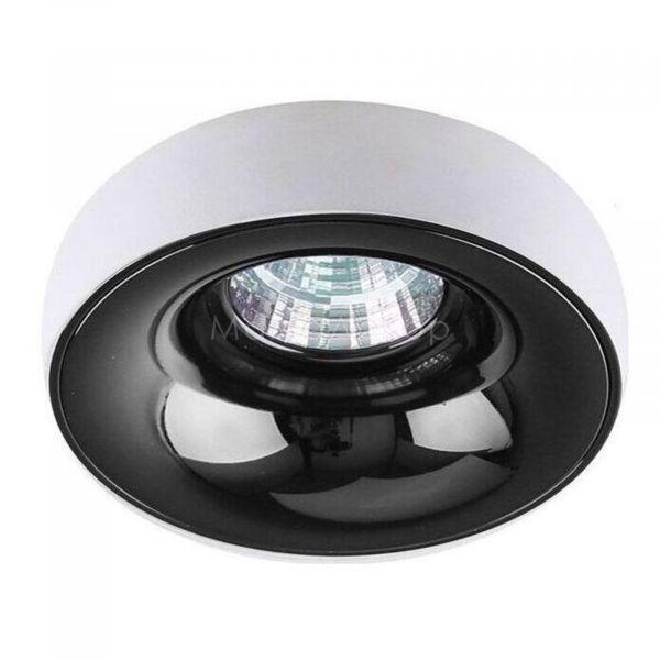 Точковий світильник Azzardo AZ1480   AZ1487 Adamo Ring, колір плафону — Білий, чорний хром, колір основи — чорний хром