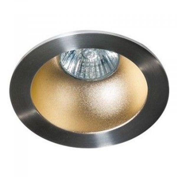 Точковий світильник Azzardo AZ1729   AZ0822 Remo 1 Downlight, колір плафону — алюміній, білий, колір основи — алюміній