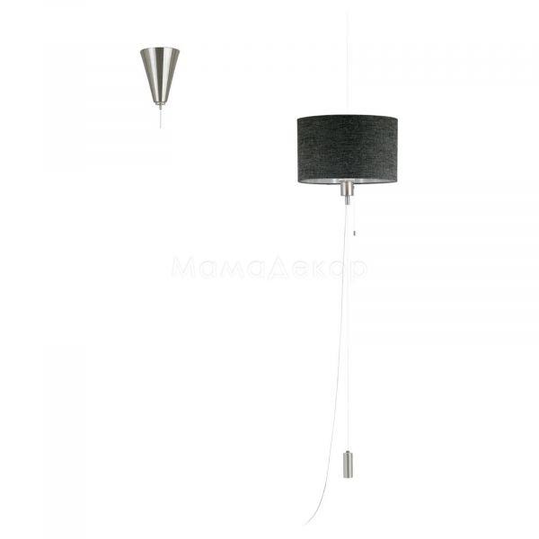 Підвісний світильник Eglo 96157 Romano 1, колір плафону — коричневий, колір основи — нікель матовий