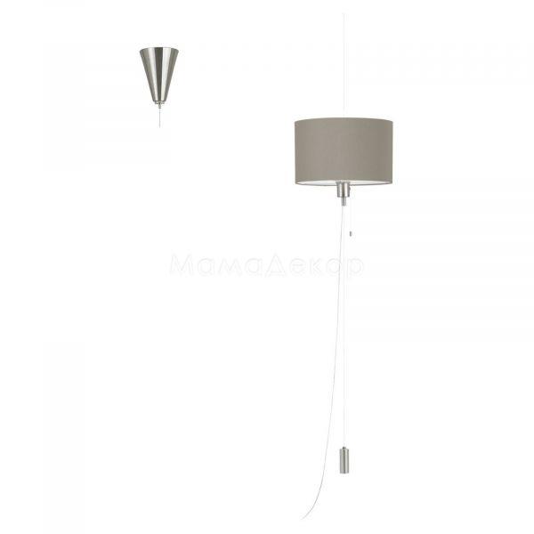 Подвесной светильник Eglo 96158 Romano 1, цвет плафона — серо-коричневый, цвет основания — никель матовый