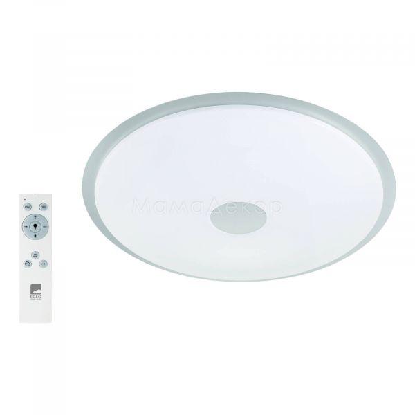 Стельовий світильник Eglo 97737 Lanciano, колір плафону — білий, срібло, колір основи — білий, прозорий