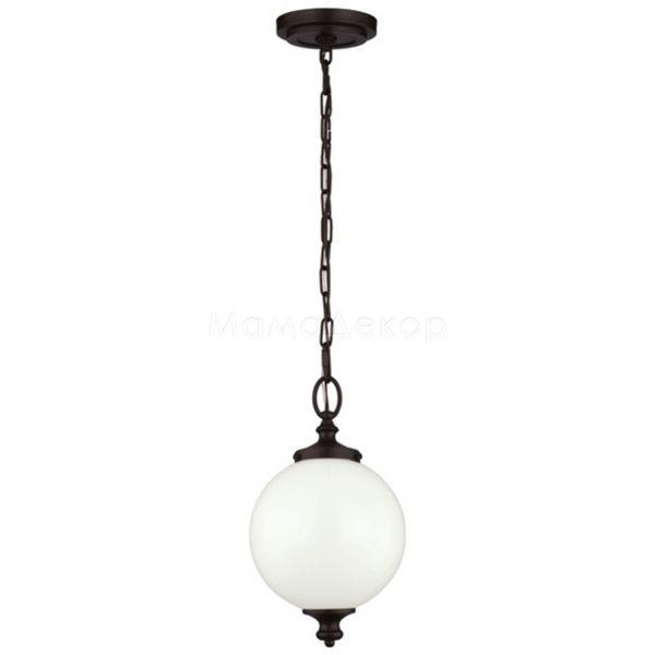 Підвісний світильник Feiss FE/PARKMAN/PS OB, колір плафону — білий, бронза, колір основи — бронза