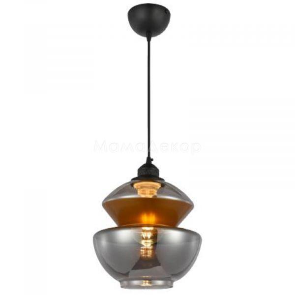 Підвісний світильник Horoz Electric 021-017-0002-010 Harmony-2, колір плафону — титан, мідь, колір основи — чорний