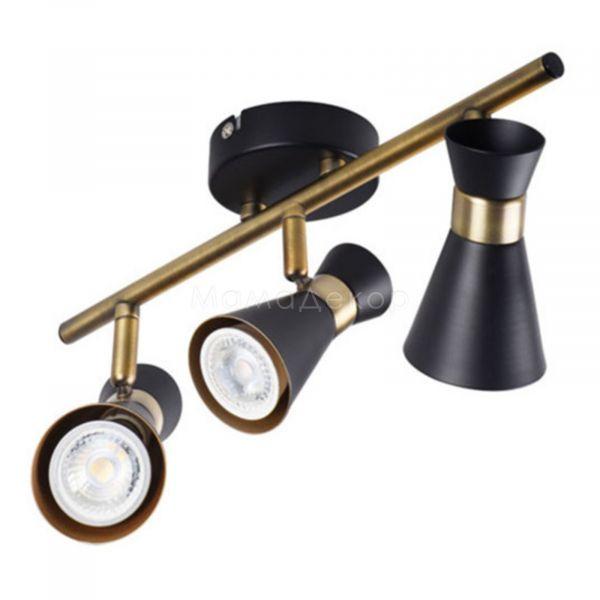 Спот Kanlux 29116 Mileno EL-3I B-AG, колір плафону — чорний, колір основи — чорний, золото