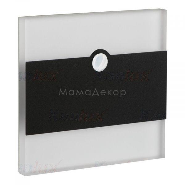 Настінний світильник Kanlux 29861 Terra LED PIR B-WW, колір плафону — прозорий, колір основи — чорний