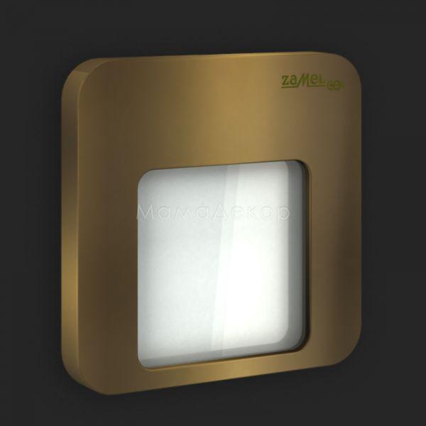 Настінний світильник Ledix 01-111-41 Moza, колір плафону — старе золото, білий, колір основи — старе золото