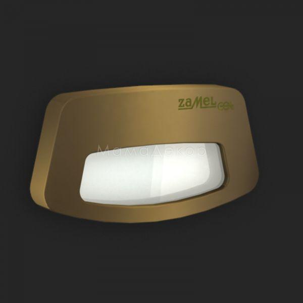 Настінний світильник Ledix 03-111-42 Tera, колір плафону — старе золото, білий, колір основи — старе золото