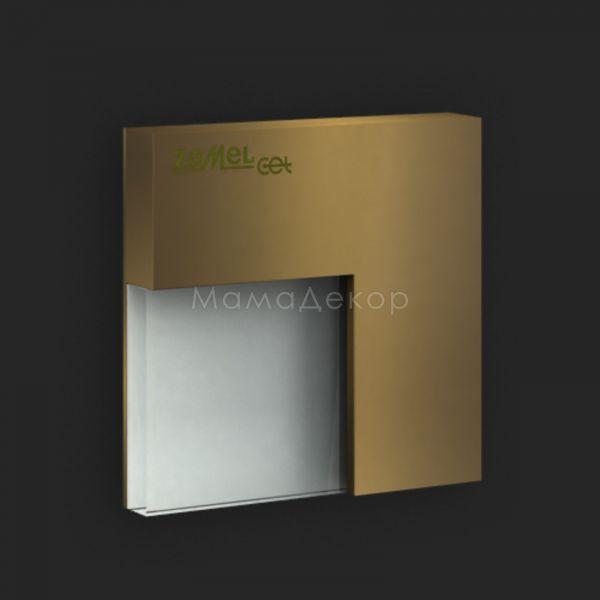 Настінний світильник Ledix 06-111-41 Timo, колір плафону — старе золото, білий, колір основи — старе золото
