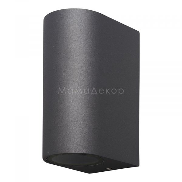 Настінний світильник Mantra 6510 Kandanchu, колір плафону — темно-сірий, прозорий, колір основи — темно-сірий