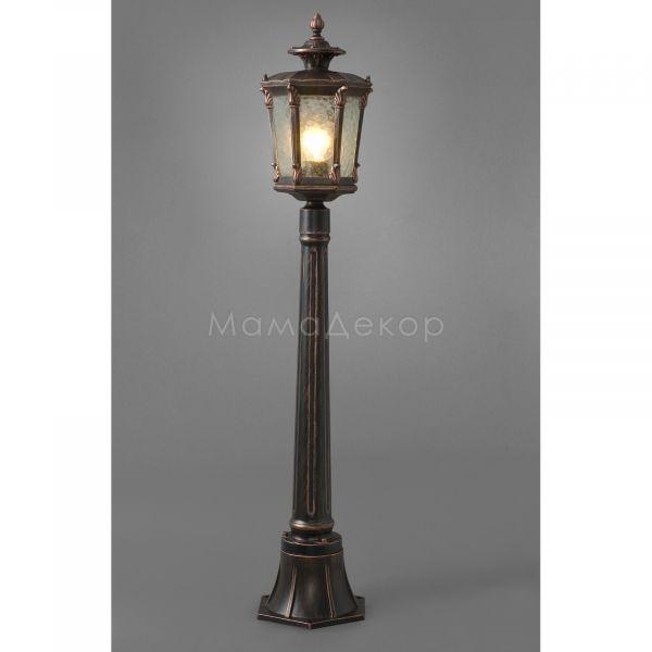 Парковий світильник Nowodvorski 4694 Amur, колір плафону — прозорий, колір основи — мідний