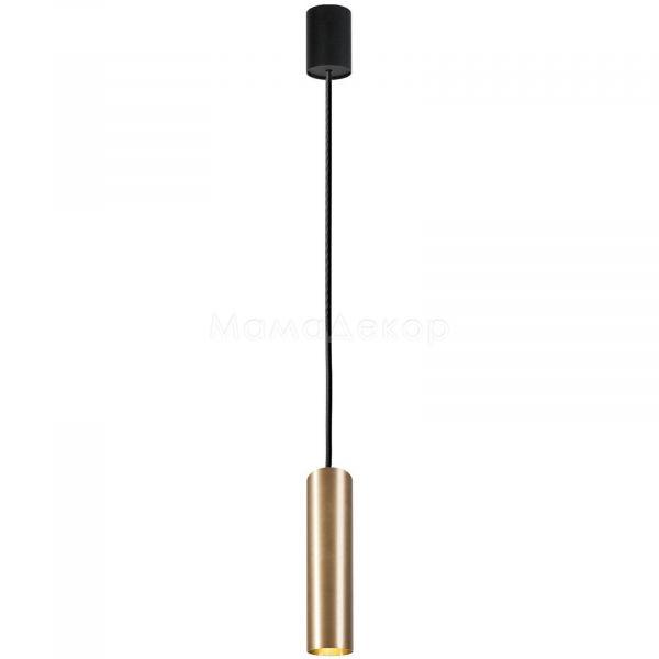 Підвісний світильник Nowodvorski 8914 Eye Brass M, колір плафону — латунь, колір основи — чорний