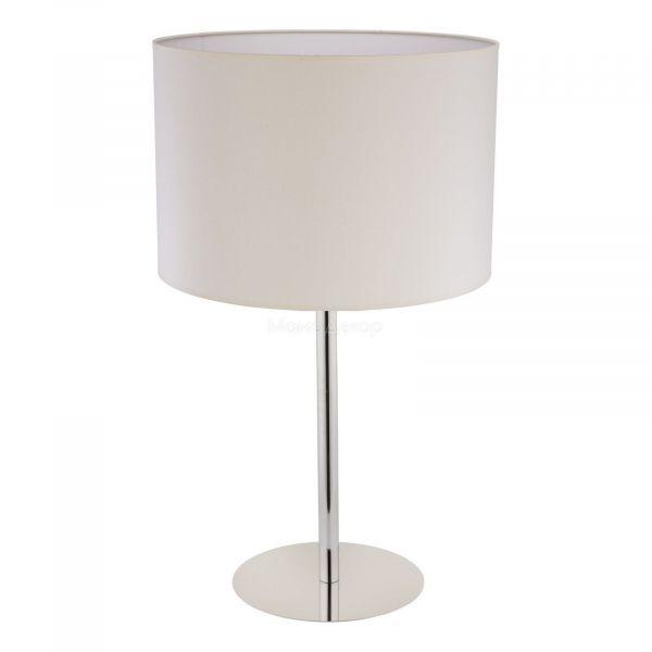 Настольная лампа Nowodvorski 8982 Hotel LED, цвет плафона — серовато-бежевый, цвет основания — хром