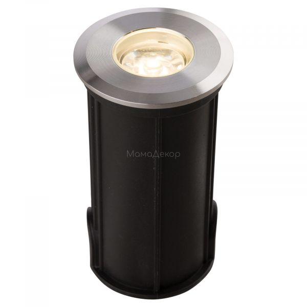 Грунтовий світильник Nowodvorski 9106 Picco LED S, колір плафону — сталевий, колір основи — чорний