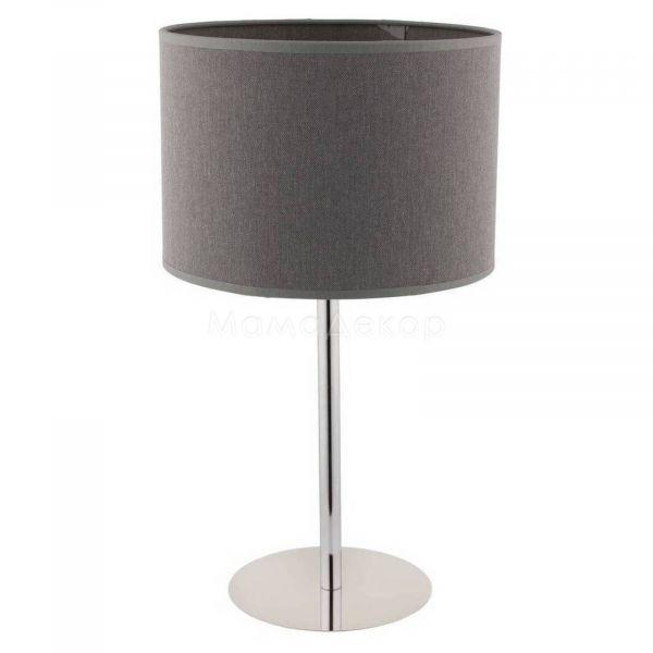 Настільна лампа Nowodvorski 9301 Hotel, колір плафону — сірий, колір основи — хром