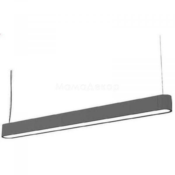 Підвісний світильник Nowodvorski 9543 Soft LED, колір плафону — сірий, білий, колір основи — сірий