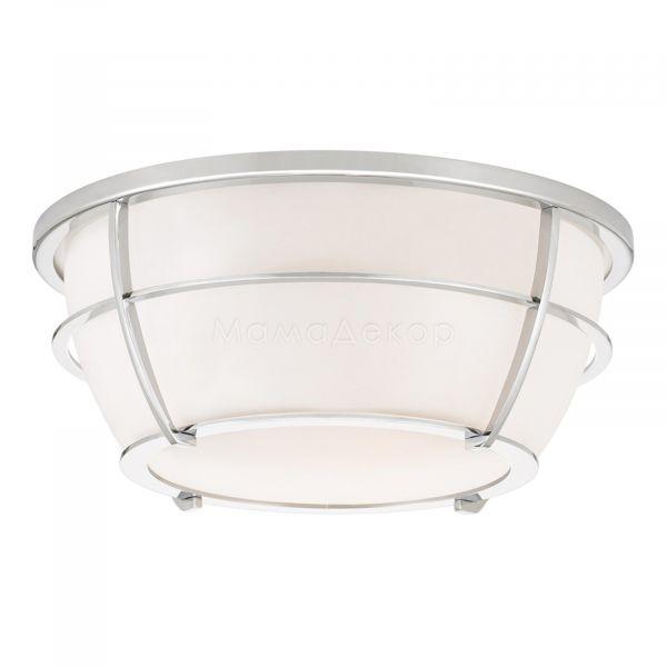 Стельовий світильник Quoizel QZ/CHANCE/F PC, колір плафону — білий, колір основи — хром