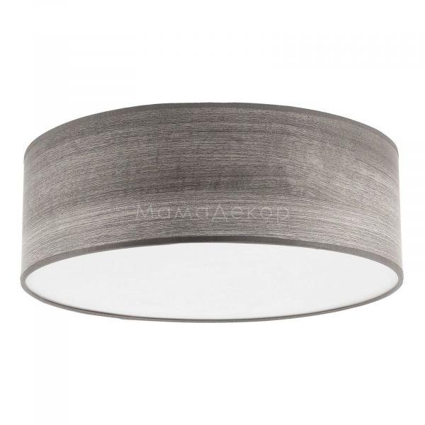 Стельовий світильник TK Lighting 1576 Rondo Wood, колір плафону — сірий, колір основи — білий