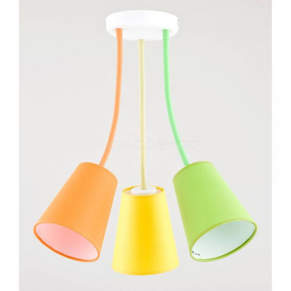 Люстра TK Lighting 2106 Wire, колір плафону — різнокольоровий, колір основи — білий, різнокольоровий