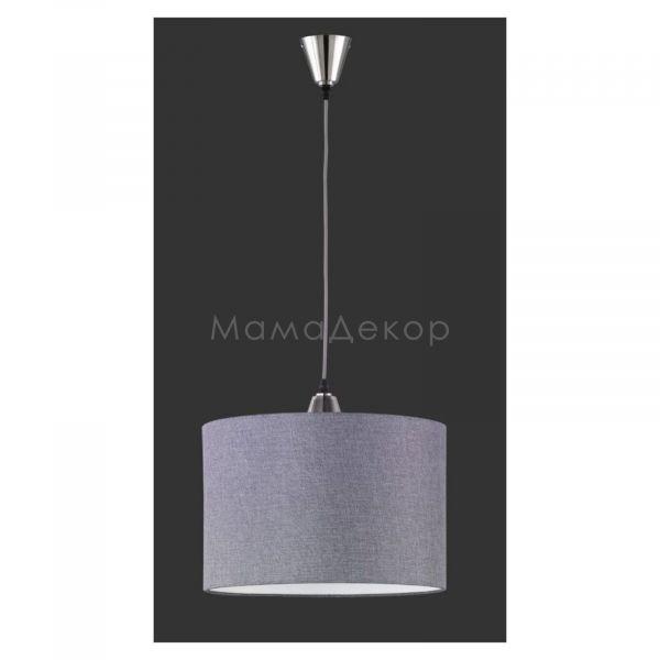 Підвісний світильник Trio 306500107 Cosinus, колір плафону — сірий, колір основи — нікель матовий