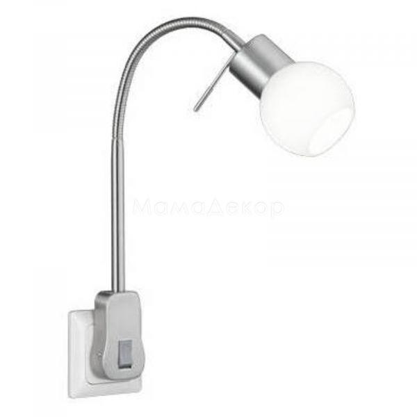 Настінний світильник Trio 891770107 Fred, колір плафону — білий, колір основи — нікель матовий