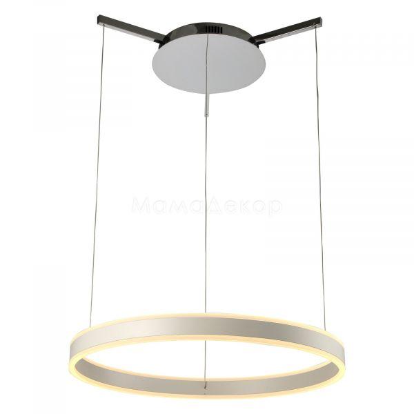 Подвесной светильник Zuma Line L-CD-672 Circle, цвет плафона — белый, цвет основания — хром