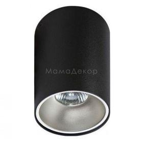 Точковий світильник Azzardo AZ0818 + AZ0821 Remo BK+Remo R ALU, колір плафону — чорний, алюміній, колір основи — чорний