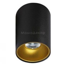 Точковий світильник Azzardo AZ0818 + AZ0824 Remo BK+Remo R GO, колір плафону — чорний, золото, колір основи — чорний