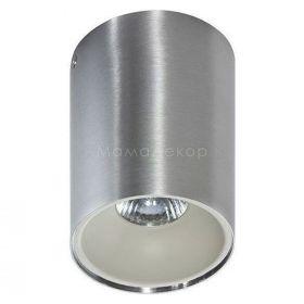 Точковий світильник Azzardo AZ0820 + AZ0822 Remo ALU+Remo R WH, колір плафону — алюміній, білий, колір основи — алюміній