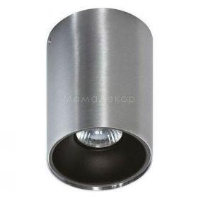Точковий світильник Azzardo AZ0820 + AZ0823 Remo ALU+Remo R BK, колір плафону — алюміній, чорний, колір основи — алюміній