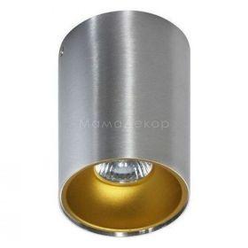 Точковий світильник Azzardo AZ0820 + AZ0824 Remo ALU+Remo R GO, колір плафону — алюміній, золото, колір основи — алюміній