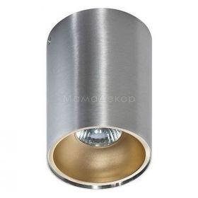 Точковий світильник Azzardo AZ0820 + AZ0825 Remo ALU+Remo R CHA, колір плафону — алюміній, шампанське, колір основи — алюміній