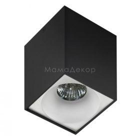 Точковий світильник Azzardo AZ0826 + AZ0830 Hugo BK+Hugo R WH, колір плафону — Білий, колір основи — чорний