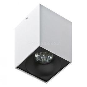 Точковий світильник Azzardo AZ0827 + AZ0832 Hugo WH+Hugo R BK, колір плафону — чорний, колір основи — Білий