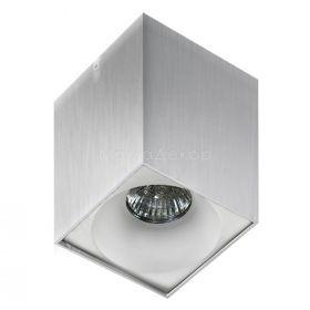 Точковий світильник Azzardo AZ0828 + AZ0830 Hugo ALU+Hugo R WH, колір плафону — Білий, колір основи — Алюміній