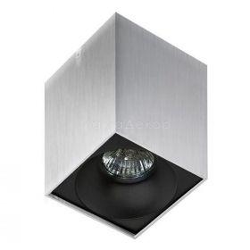Точковий світильник Azzardo AZ0828 + AZ0832 Hugo ALU+Hugo R BK, колір плафону — чорний, колір основи — Алюміній