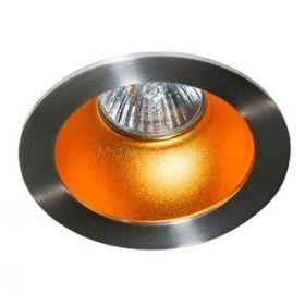 Точковий світильник Azzardo AZ1729 + AZ0824 Remo 1 Downlight, колір плафону — алюміній, золото, колір основи — алюміній