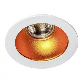 Точковий світильник Azzardo AZ1731 + AZ0824 Remo 1 Downlight, колір плафону — білий, золото, колір основи — білий