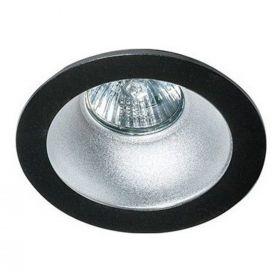 Точковий світильник Azzardo AZ1732 + AZ0821 Remo 1 Downlight, колір плафону — чорний, алюміній, колір основи — чорний