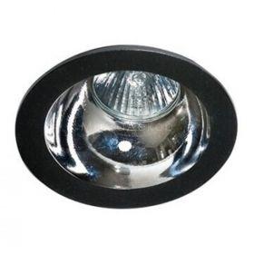 Точковий світильник Azzardo AZ1732 + AZ0855 Remo 1 Downlight, колір плафону — чорний, хром, колір основи — чорний
