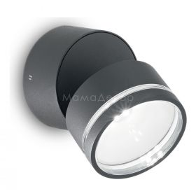 Ideal Lux 172552 Omega Round AP1 Antracite