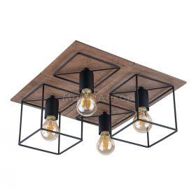 Стельовий світильник Nowodvorski 9044 Coba, колір плафону — чорний, колір основи — коричневий