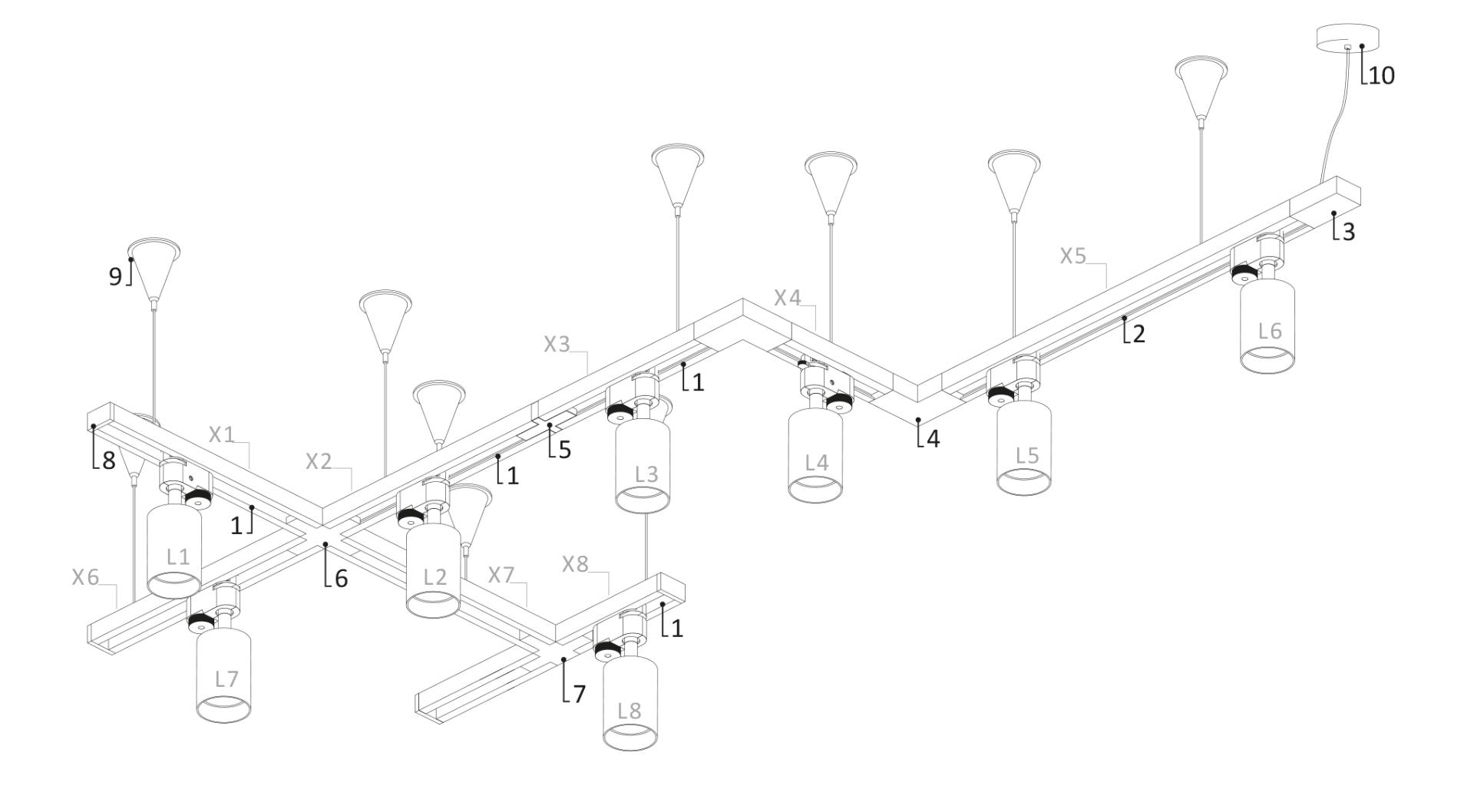 Приклад реалізації збору трекової системи Nowodvorski на тросових підвісах